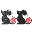 the symbol chinese new year rat cny vector image