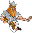 viking sports logo mascot football vector image vector image