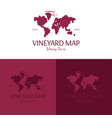 vineyard map logo and icon vector image vector image