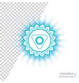 vishuddha - energy center chakra vector image vector image
