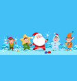 winter background christmas santa vector image vector image