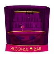 Alcohol bar concept design vector image