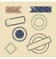 vintage stamp frames vector image