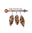 american indian arrow vector image