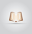 book isolated colored icon vector image