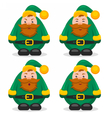 set of flat characters dwarves vector image