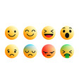 3d modern emoji icons set vector image
