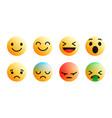 3d modern emoji icons set vector image vector image