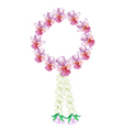 A Fresh Pink Colors of Vanda Orchid Garland vector image