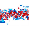 abstract bright tech geometric low poly vector image vector image