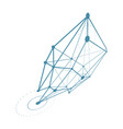 abstract construction dimensional low poly design vector image vector image