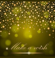 abstract golden shining falling stars on yellow vector image vector image