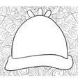 adult coloring bookpage a christmas cap on the vector image vector image