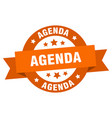 agenda ribbon agenda round orange sign agenda vector image vector image