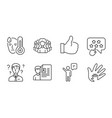 agent women group and like icons set job vector image vector image