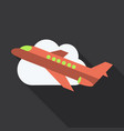 aircraft icon travel isolated on background flat vector image