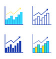 bar graph icon set in flat and line style vector image