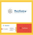 blast logo design with tagline front and back vector image