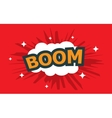 boom wording sound effect set vector image vector image