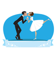 Bride groom kissing vector image vector image