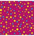 Bright stars pink seamless pattern vector image vector image