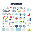 business icons set of icons for finance vector image