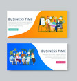 business meeting and brainstorming cartoon banners vector image vector image