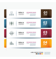business step paper data and numbers template vector image vector image