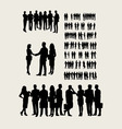 Business Team Silhouettes vector image vector image