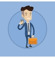 Businessman making selfie vector image vector image