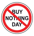 buy nothing day lettering for protest background vector image