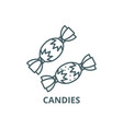 candies line icon candies outline sign vector image