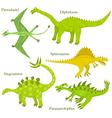 Cartoon dinosaurus vector image