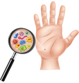Cartoon of Dirty hand vector image vector image
