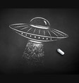 chalk drawn ufo vector image