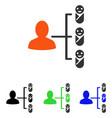 children links flat icon vector image vector image