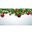 Christmas banner with spruce twigs vector image