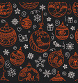 Christmas decorations seamless pattern merry