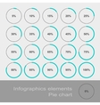 Circle Diagram Pie Infographic Elements vector image vector image