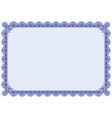 classic border frame editable vector image vector image
