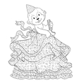 Coloring Page Of Monkey In Skirt vector image