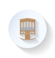 Cot flat icon vector image vector image