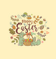 cute easter banner vector image