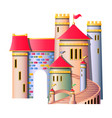 fairytale castle isolated vector image vector image