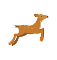 fallow sika roe deer jumping wild animal cartoon vector image vector image
