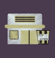 flat icon in shading style building cinema popcorn vector image vector image