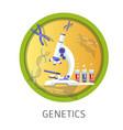 genetics studies themed concept logo vector image