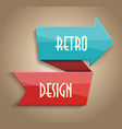 glossy arrow abstract retro design vector image