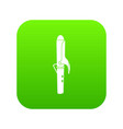 hair curler icon green vector image vector image