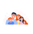 happy family parents with children dad mom and vector image vector image